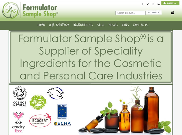Formulator Sample Shop
